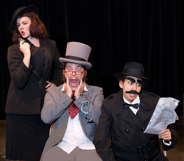 Kyra Gardner, Jeremy Webb and Millie Casillas in Ferndale Rep's The 39 Steps - COURTESY OF FERNDALE REP