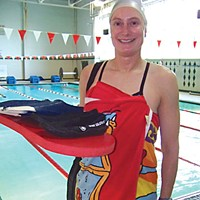 Can't Swim Laura Cent swims at the Eureka High School pool. Photo by Heidi Walters.