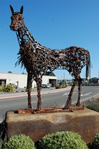 Linda Wise's metal horse sculpture