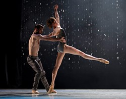"PHOTO BY ANGELA STERLING - LINES dancers David Harvey and Meredith Webster in ""Meyer."""