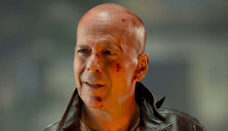 Little-known fact: Bruce Willis sucks at shaving.