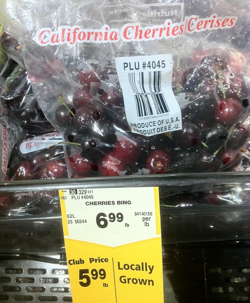 """Locally grown"" cherries - from Bakersfield - PHOTO BY BOB DORAN"