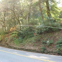 Roads and Redwoods location of cut south of Overpacks Grove Resort driveway. photo courtesy caltrans.