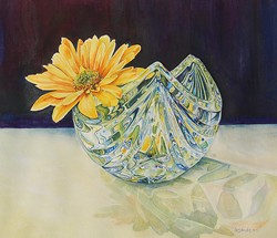 """Lois Anderson's """"Mikasa and Daisy"""" will be among the watercolors on display at Plaza during Arts! Arcata. Her work is included in a show titled """"Floral Visions,"""" showcasing watercolorists who have been part of Alan Sanborn's critique groups."""