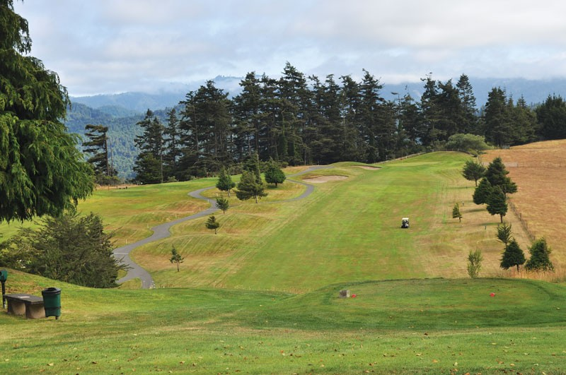 Looking down the 12th fairway at Redwood Empire Golf and Country Club in Fortuna. - The 13th hole is on the left. - PAMELA LONG