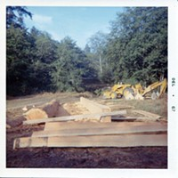 Jacoby Creek Covered Bridge Lumber – soon to be a bridge. Roscoe family photo
