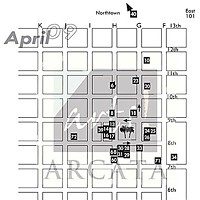 Arts! Arcata Map of April 2009's Arts! Arcata locations.
