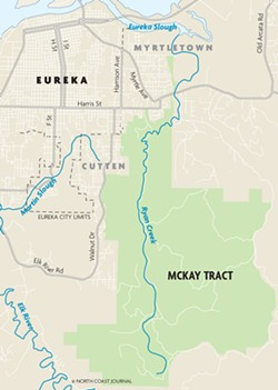 © NORTH COAST JOURNAL - Map of McKay Tract.