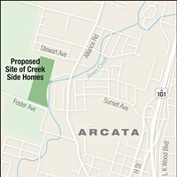 Growing Pain Map of the proposed Creek Side Homes. Miles Eggleston/The North Coast Journal
