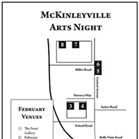 McKinleyville Arts Night Map of venues.