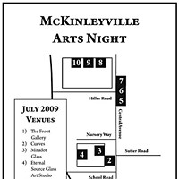 Third Friday McKinleyville Arts Night Map of venues.