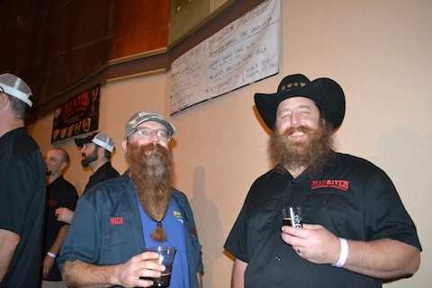 Mark Nicely, left, and Mad River brewmaster Dylan Schatz. - PHOTO BY HEIDI WALTERS