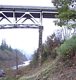 Martin's Ferry Bridge. Photo courtesy Humboldt County Public Works.