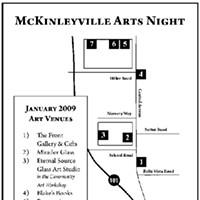 Third Friday McKinleyville Arts Night McKinleyville Arts Night map