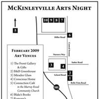 Third Friday McKinleyville Arts Night McKinleyville Arts Night venue map