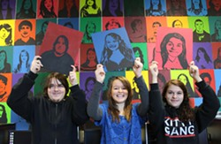 "McKinleyville High students present their enormous group project, the ""Unity & Diversity"" mural at the school."