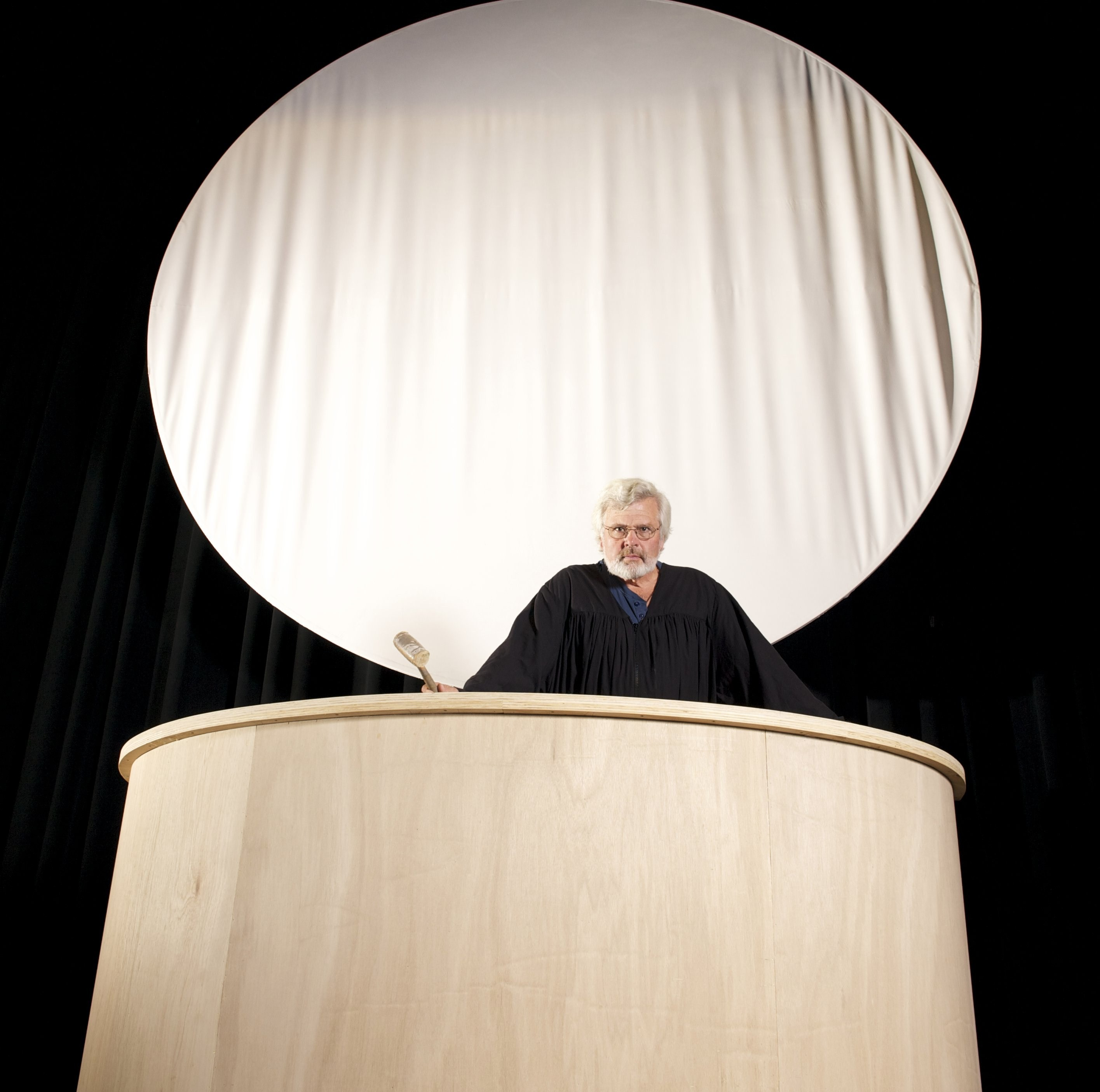 Michael Fields as the Judge in the local production of 8 - PHOTO COURTESY OF HSU