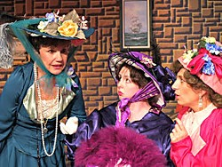 Michele Shoshani as The Countess, Wanda Stapp as Gabrielle and Kathleen Marshall as Constance in the North Coast Rep production of The Madwoman of Chaillot. Photo courtesy of NCRT.