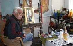 PHOTO BY KEN WEIDERMAN - Mitsanas in his studio.