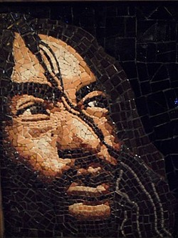 Mosaic art by Marley Goldman at Jitter Bean