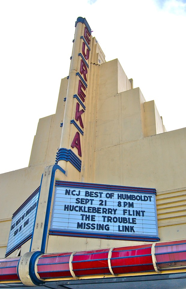 NCJ Best of Humboldt Party marquee at the Eureka Theater