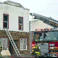Fire Breaks Out in Squires Building