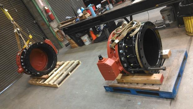 Shiny new valves. - HBMWD