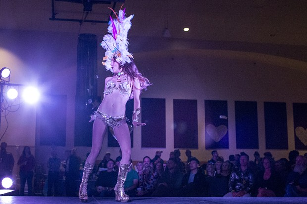 Rocio Cristal and Samba Quente opened up the evening on a hot note. - ALEXANDER WOODARD