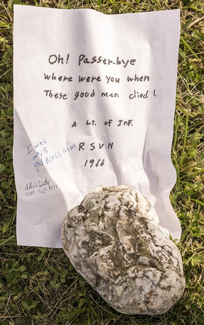Mementos and memorabilia left at the replica Wall were to be collected by staff with identifying information for possible display in a future local community exhibit, according to organizers. - MARK LARSON