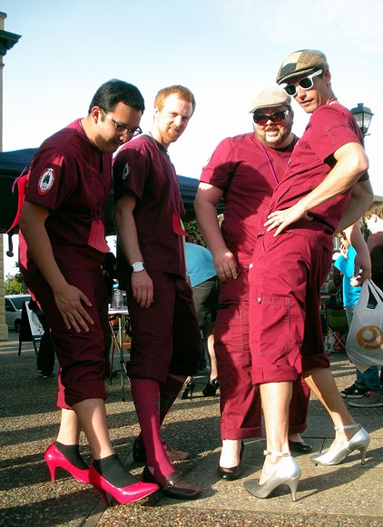 No scrubs. College of the Redwoods nursing represents. - JENNIFER FUMIKO CAHILL