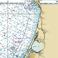 Two If By Sea NOAA Chart of fishing depths.