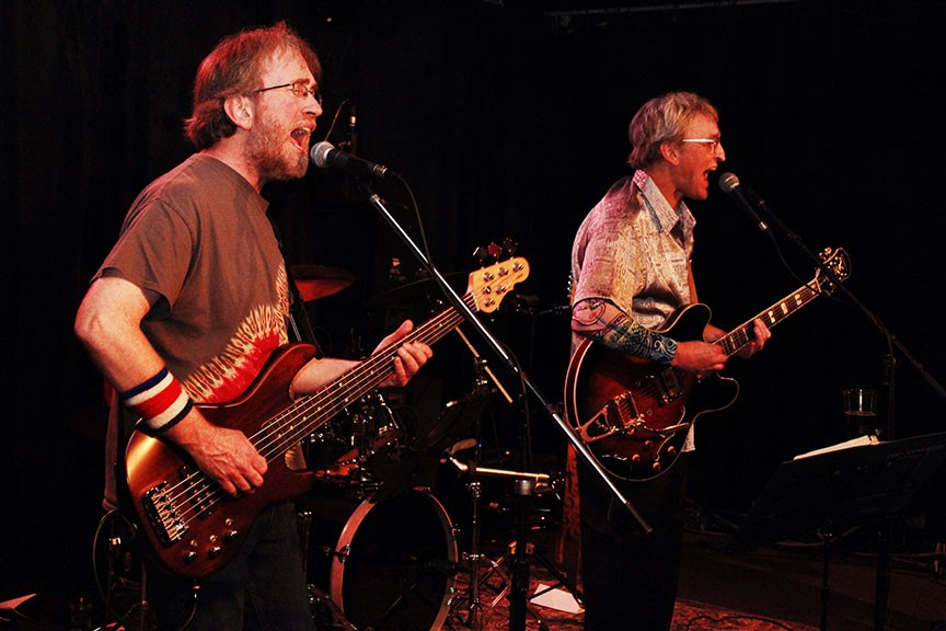 Norman Bradford and Jeff Kelley of The Miracle Show play one more set of Grateful Dead tunes on Feb. 8 at Humboldt Brews. - PHOTO BY BOB DORAN