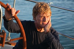 Not king of the world:  Robert Redford in All is Lost.