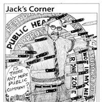 Jack Mays Editorial Cartoons Oct. 18, 2007 -- When new resident Stuart Altschuler, a licensed psychotherapist, sought a Home Occupation Permit from the City of Ferndale, he was assaulted with what some termed as homophobic comments from a few audience members. Ferndale's mayor at the time, Jeff Farley, didn't seek to stop the comments during the now infamous Ferndale City Council meeting. Cartoon by Jack Mays and explanation by Caroline Titus, courtesy of The Ferndale Enterprise