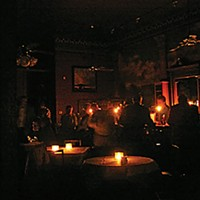 Rumbletown Old Town's Café Waterfront served patrons by candlelight. Photo by Ken Malcomson
