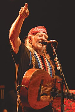 Outlaw country music icon Willie Nelson performs Sunday at Dimmick Ranch on the Humboldt/Mendocino County Line.  Photo by Scott Newton.