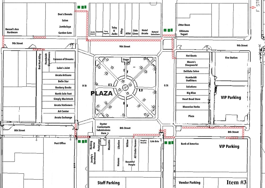 Oyster Fest's fencing plan.