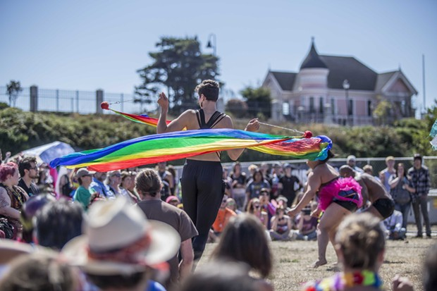 The Caravan of Glam performs for a crowd at the Humboldt Pride Revolution Parade and Festival in Eureka, Sat. Sept. 13.