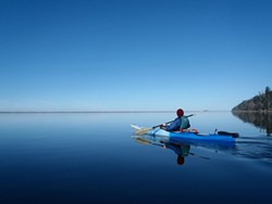 PHOTO BY MARNA POWELL - Paddling the lagoon mid-winter — it's not the Arctic, people.