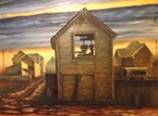 <b>Paintings by Bobby Wright at Moonstone Crossing.</b>