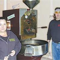 Pamela and Kregen Olsen of Bayside Roasters. Photo by Hank Sims.