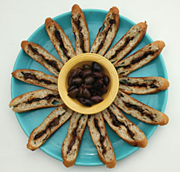 Pan bagna and kalamata olives. Photo by Bob Doran.