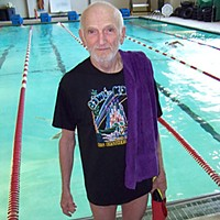 Pool Stories Paul Stanley at the Eureka High pool. Photo by Heidi Walters.