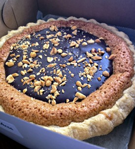 Peanut butter chess pie is a dessert fit for the King. - JENNIFER FUMIKO CAHILL