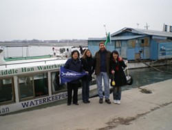 PHOTO COURTESY OF PETE NICHOLS - Pete Nichols and waterkeeper in China
