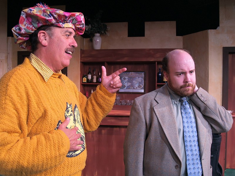 Phil Zastrow as Dickie, Anders Carlson as Bingham in NCRT's The Fox on the Fairway - COURTESY OF NCRT