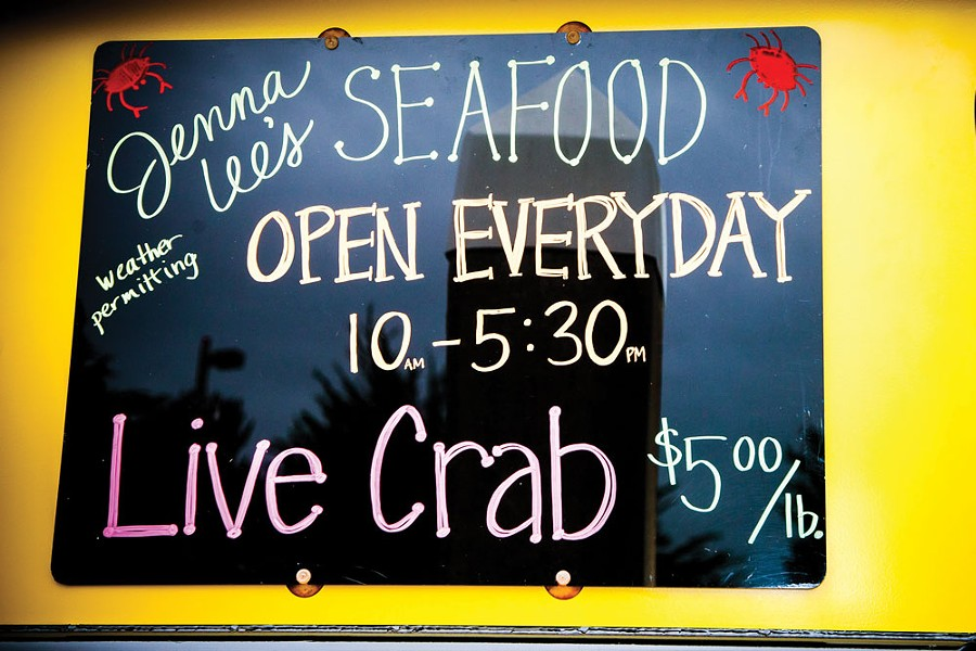 Jenna Lee's Seafood, open daily - PHOTO BY AMY KUMLER