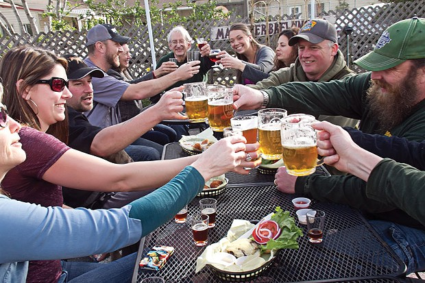 Cheers to the sun at Mad River Brewing Company. - PHOTO COURTESY OF MAD RIVER BREWING COMPANY