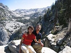 Pieter and Sara in Sequoia National Park granite.