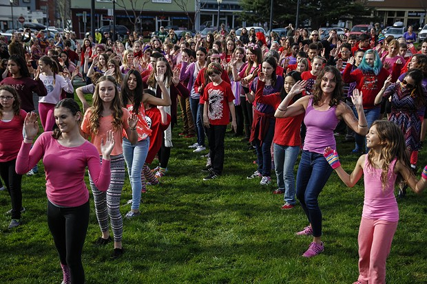 """Although most V-Day dance groups around the world danced to """"Break the Chain"""" by Lupe Fiasco, V-Day Humboldt presented a choreography to """"Roar"""" by Katy Perry. - MANUEL J. ORBEGOZO"""